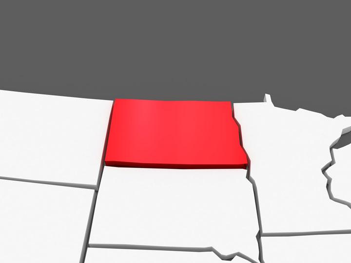 3d north dakota map